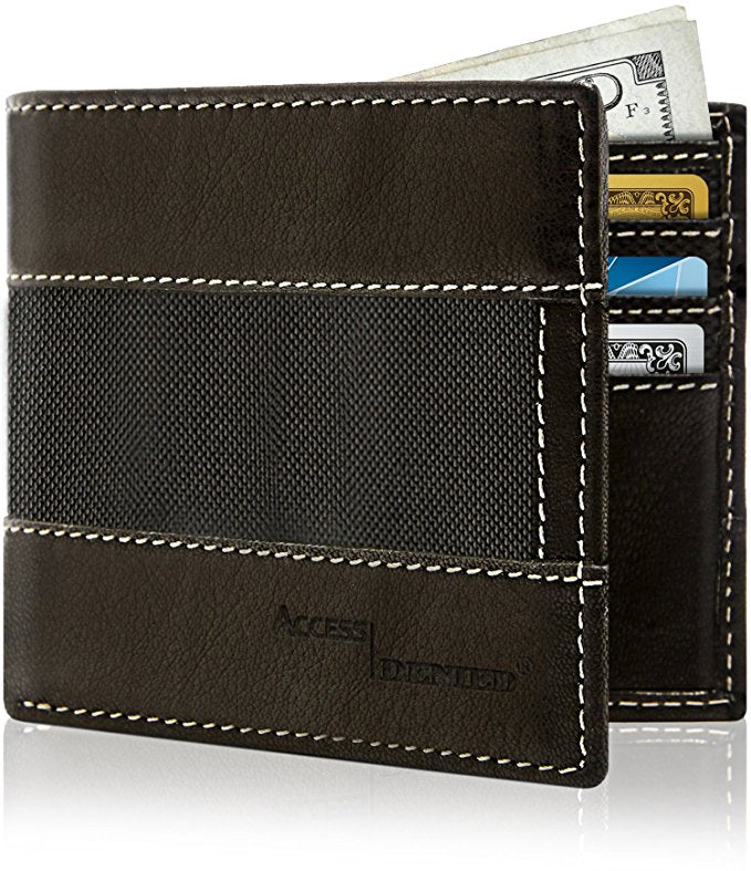Genuine Leather Bifold Wallets For Men with RFID Blocking-Daily Steals
