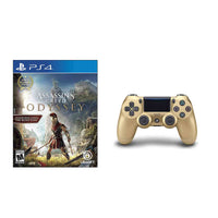 Sony Playstation 4 DualShock 4 Wireless Controller Gold + Assassin's Creed Odyssey PS4 Bundle