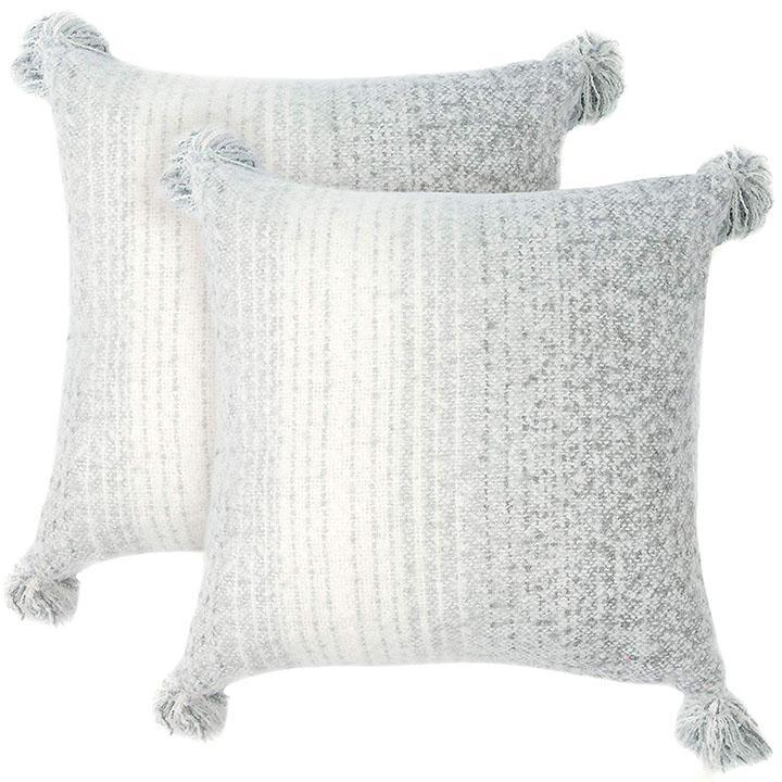 Daily Steals-Super Soft Gray Ombre Throw Pillows - 2 Pack-Home and Office Essentials-