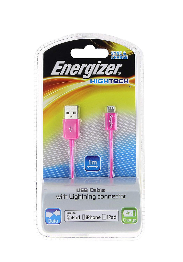 Daily Steals-[2-Pack] Energizer High Tech Lightning to USB Charge & Sync Cable for Apple Lightning Devices - (1M / 3.3Ft)-Cell and Tablet Accessories-