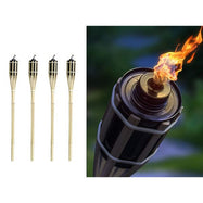 Bamboo Outdoor Tiki Torch- 4 Pack-Daily Steals