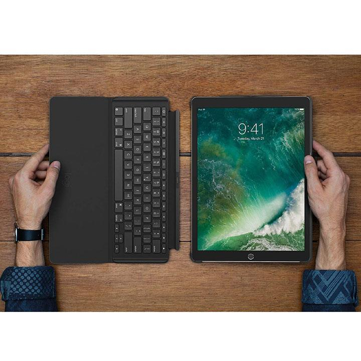 Logitech iPad Pro 12.9 inch Keyboard Case - SLIM COMBO with Detachable, Backlit, Wireless Keyboard and Smart Connector-Daily Steals