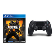 Sony Playstation 4 DualShock 4 Wireless Controller Black + Call of Duty Black Ops 4 PS4 Bundle-Daily Steals