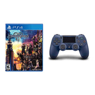 Manette sans fil Sony Playstation 4 DualShock 4 Midnight Blue + Kingdom Hearts III PS4 Bundle-Daily Steals