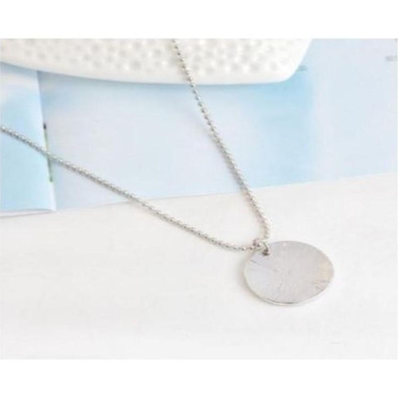 Hammered Engraved 'blessed' Necklace-Daily Steals