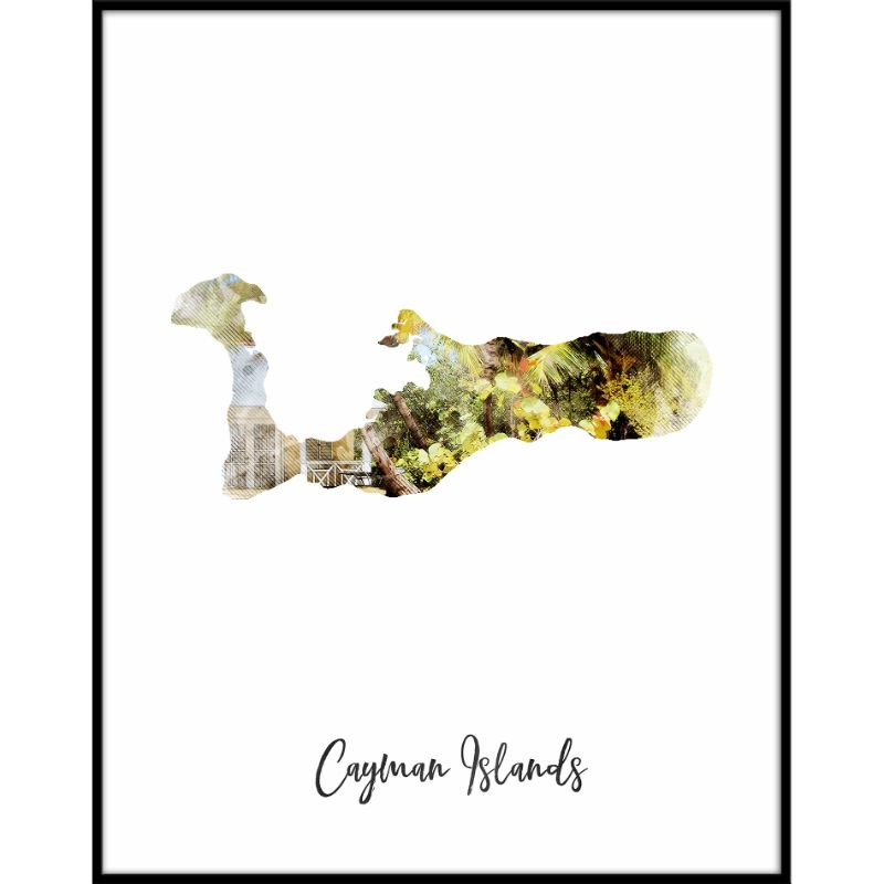 Cayman Islands Watercolor Map Print - Unframed Art Print-Daily Steals