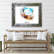 "Poland Watercolor Map Print - Unframed Art Print-14""x11""-Horizontal/Landscape-Daily Steals"