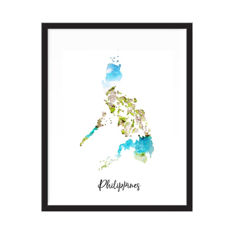 Philippines Watercolor Map Print - Unframed Art Print-Daily Steals