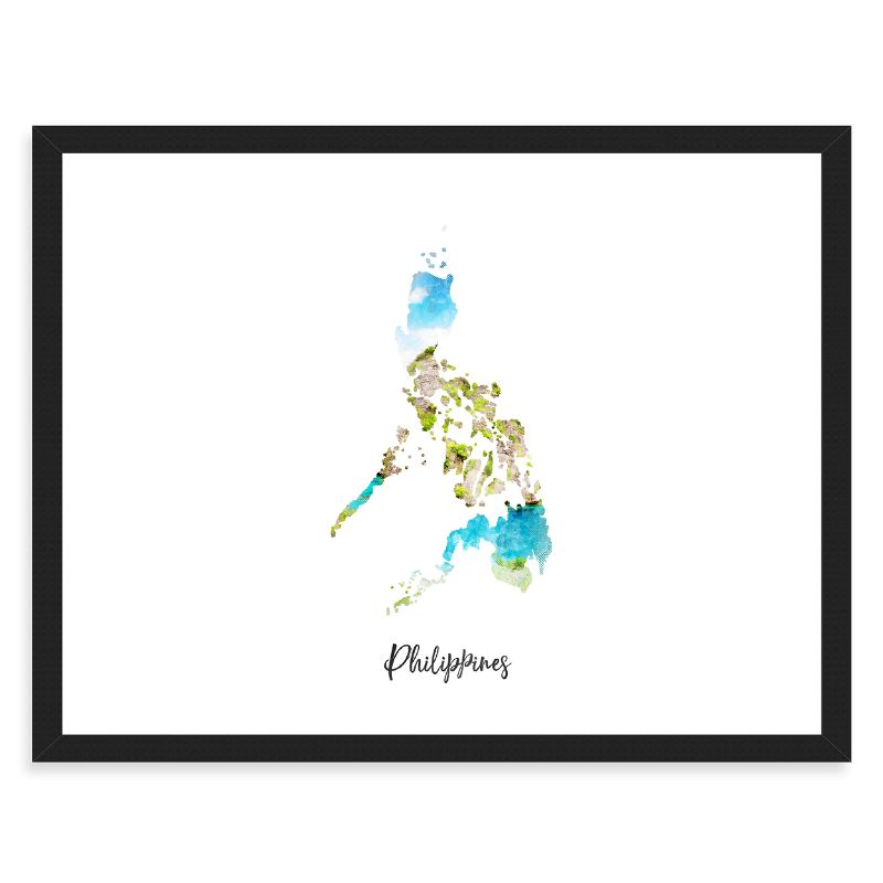 "Philippines Watercolor Map Print - Unframed Art Print-19""x13""-Horizontal/Landscape-Daily Steals"