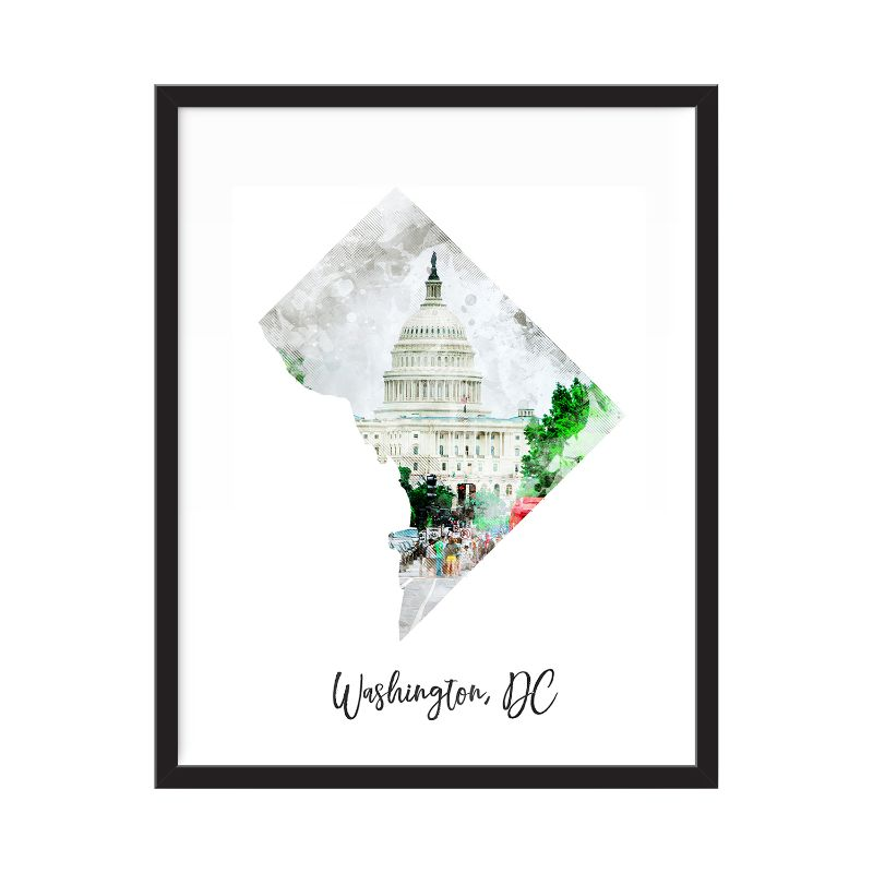 Washington DC Watercolor Map Print - Unframed Art Print-Daily Steals