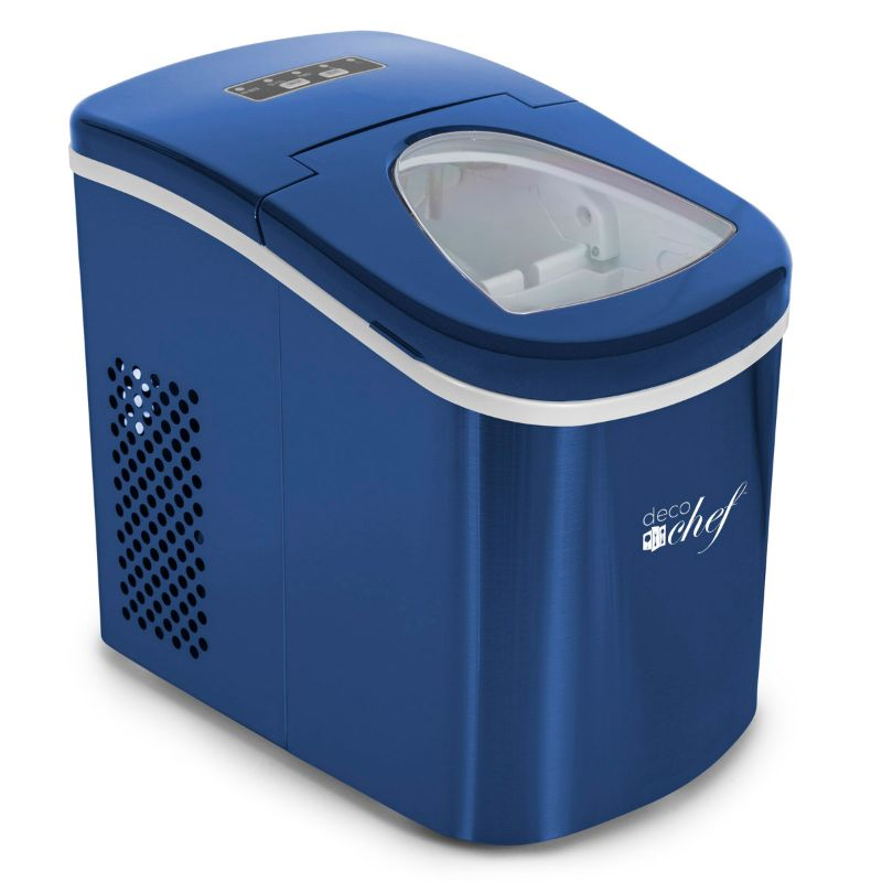 Stainless Steel Compact Electric Ice Maker - 26 Lbs Per Day-Blue-Daily Steals
