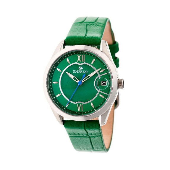 Empress Messalina Automatic Mother-Of-Pearl Leather-Band Watch-Green-Daily Steals