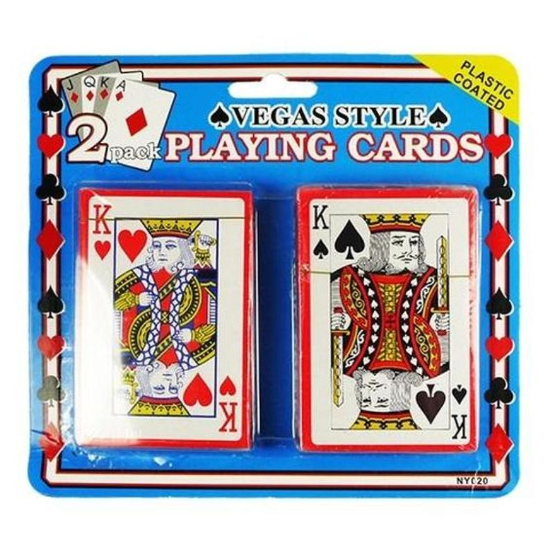 Plastic Coated Playing Cards - 2 Packs-Daily Steals