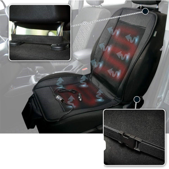 Car Heating Cooling Seat Chair Cushion 2 in 1 Adjustable Temperature-Daily Steals