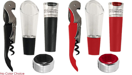 Daily Steals-4 Piece Wine Gift Set-Home and Office Essentials-
