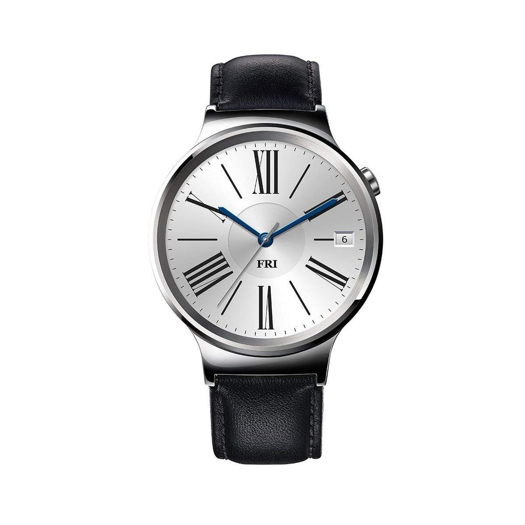 Huawei Watch 42mm Smartwatch (Stainless Steel, Black Leather Band)-Daily Steals