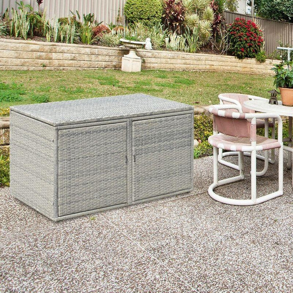 88 Gallon Garden Patio Rattan Storage Container Box-Daily Steals