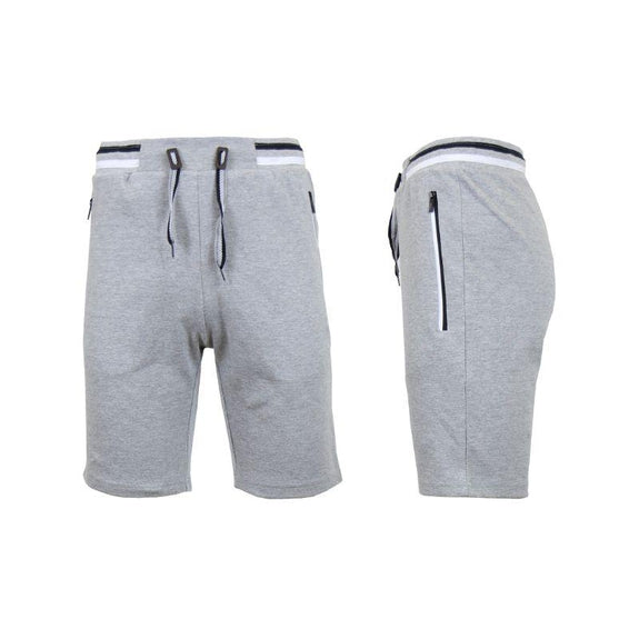 Men's Lounge Tech Jogger Shorts with Zipper Side Pockets-Heather Grey-S-Daily Steals