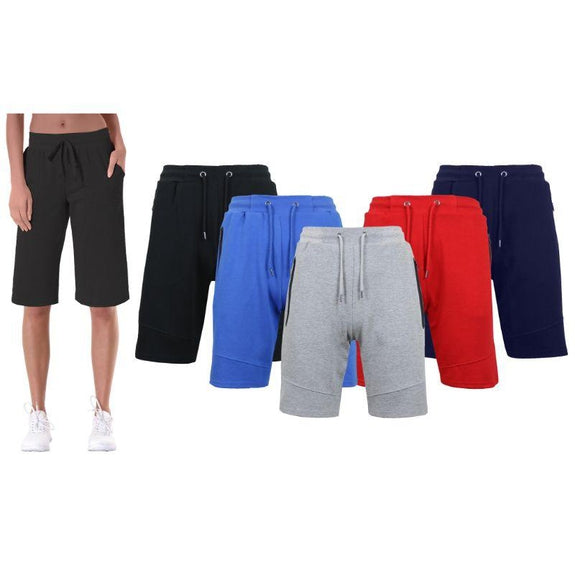 Women's Loose-Fit Tech-Fleece Bermuda Lounge Shorts - 3 Pack-Daily Steals