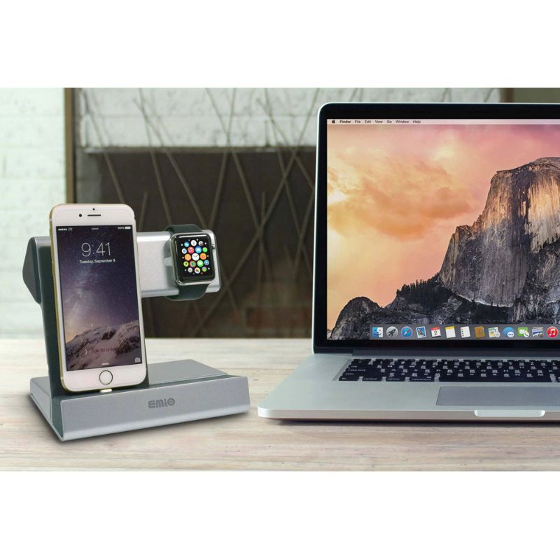 Emio Smart Watch Charge Dock for Apple Watch and iPhone-Daily Steals