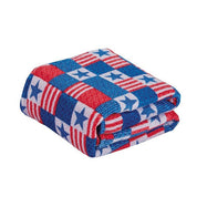 Noble House Printed Super Soft Microplush Throw Blanket-Patriotic Patchwork-Daily Steals