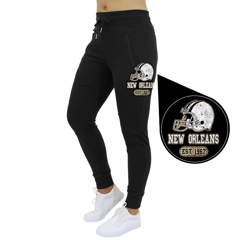 Women's Home Team Football Jogger Sweatpants-New England - Black-S-Daily Steals