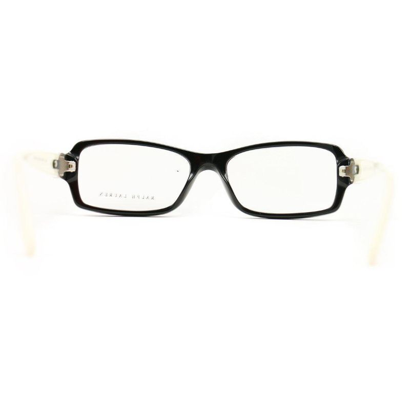 Polo Eyeglasses RL 6107Q 5001 Black White Acetate 53 16 140
