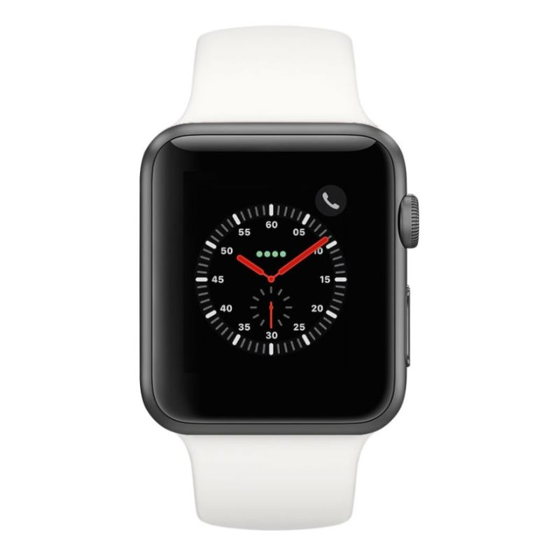 Apple Watch Series 2 38mm, WiFi-Space Gray with White Sport Band-Daily Steals