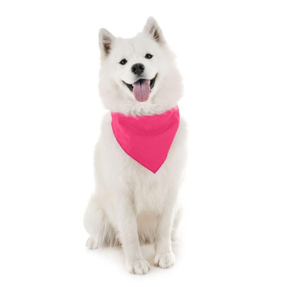Dog Scarf Bandanas Triangle Bibs - 6 Pack-Hot Pink-Daily Steals