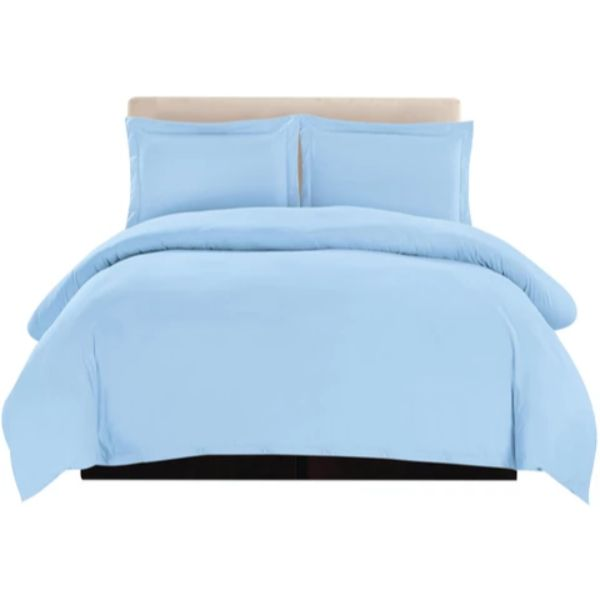 3 Piece Ultra Soft Egyptian Quality Duvet Cover Set-Blue-Full/Queen-Daily Steals