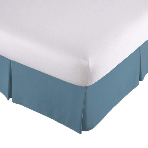 100% Ultra-Plush Microfiber Bed Skirt-BLUE-Pleated-Queen-Daily Steals