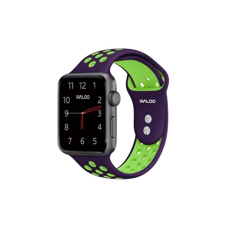 Waloo Breathable Sports Band For Apple Watch Series 1-5-Purple/Green-38/40mm-Daily Steals