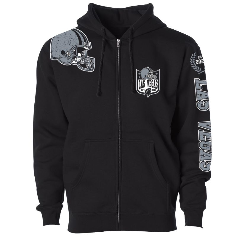 Women's Football Home Team Zip Up Hoodie-S-Las Vegas-Daily Steals