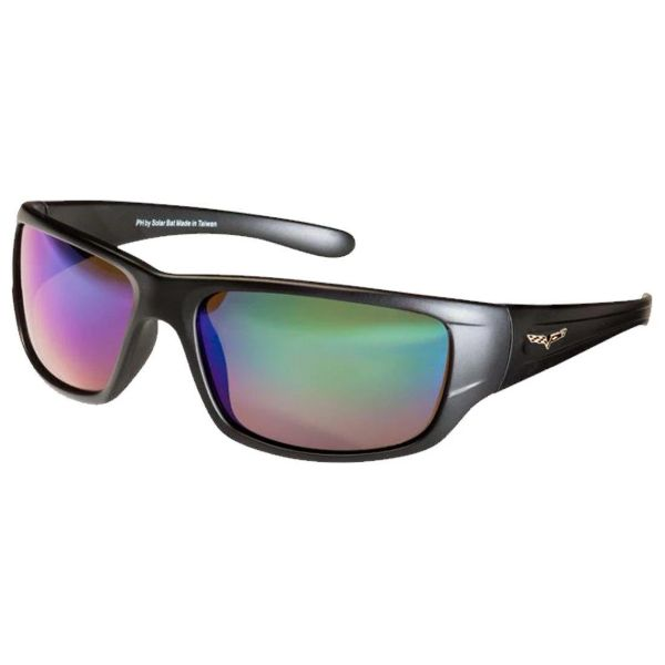 Corvette C6 Polarized Sunglasses El Series 5 Sports Styles by Solar Bat-CV-BD2 Gray Blue Mirrored Polarized-Daily Steals