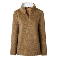 Zip Up Top Polaire Pull-Brown-Large-Daily Steals