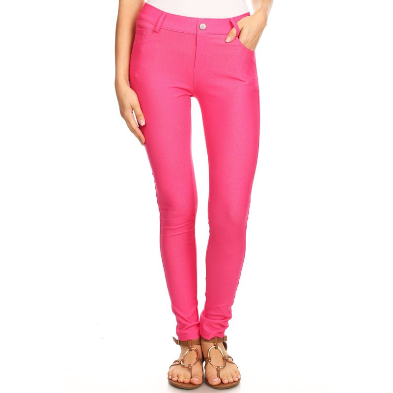 Ensemble de coton Jeggings-Fuschia-Large-Daily-Steals pour femme
