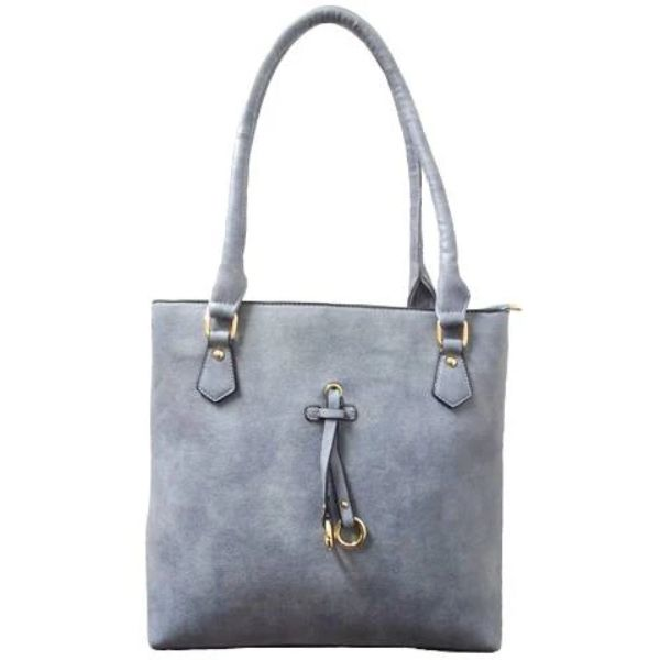 Patterson Leather Emily Tote-Grey-Daily Steals