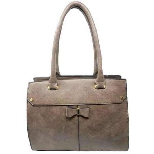Women Leather Shoulder Vintage Tote Handbag-Khaki-Daily Steals