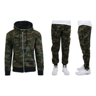 Men's Heavyweight Fleece Jogger and Heavyweight Fleece Hoodie Set-Camo-S-Daily Steals