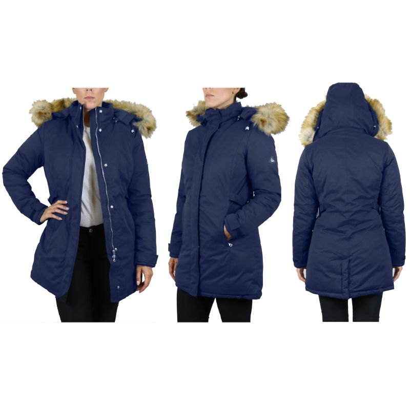 Women's Heavyweight Parka Jacket With Detachable Hood-2XL-Navy Classic Parka-Daily Steals