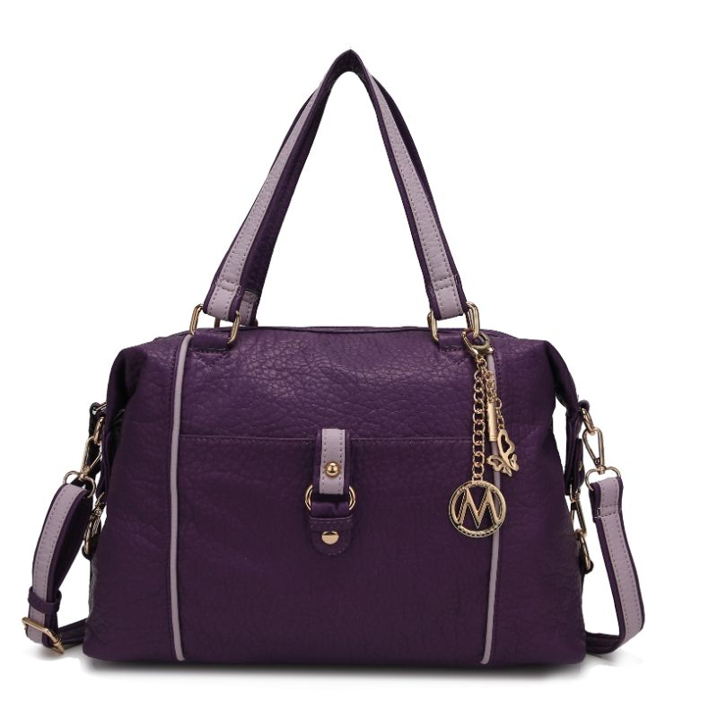 Opal Satchel Handbag by MKF-Purple-Lilac-Daily Steals