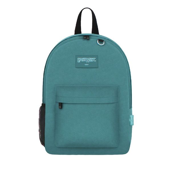 East West Classic Backpack with Key Holder and Bottle Holder-Turqoise-Daily Steals
