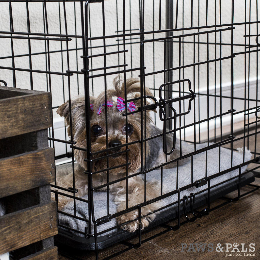 "Oxgord Double Door Folding Dog and Cat Crate, Kennel with Tray, 20""- 48""-Daily Steals"