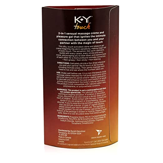 K-Y Touch 2-in-1 Massage Crème & Pleasure Gel, 3 oz.-Daily Steals