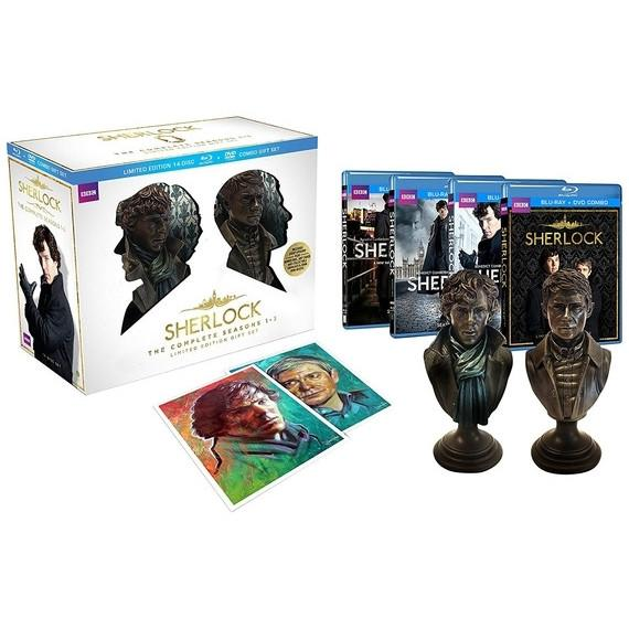Sherlock Limited Edition Blu-ray/DVD Gift Set with Complete Seasons 1-3-Daily Steals