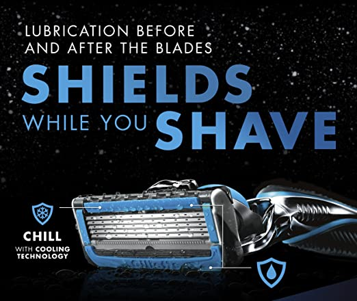 Daily Steals-Gillette Fusion ProShield Chill Bundle with Four Razor Blade Refills plus Ocean Breeze Shave Gel-Health and Beauty-