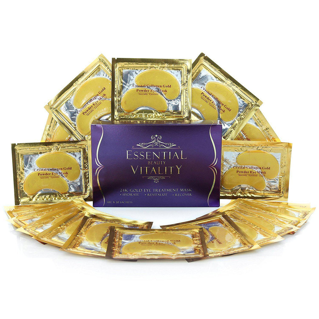 Daily Steals-24K Pure Gold Infused Premium Eye Pads, 20 Pairs-Jewelry-