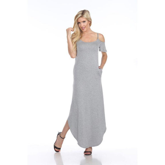 WhiteMark 'Lexi' Maxi Dress-Heather Grey-Large-Daily Steals