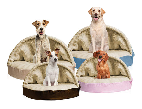 FurHaven Snuggery Round Burrow Pet Bed