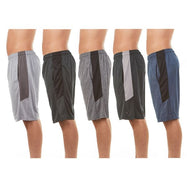 Men's Active Athletic Dry Fit Performance Shorts - 5 Pack-S-Daily Steals